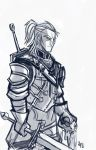 Geralt Sketch by Tigerhawk01