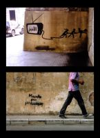 Beirut Graffiti: Reaction by Majnouna