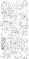 Elerus Sketchpage Commission 27-30 by Saimain