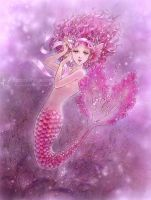 Pink Ribbon Mermaid by aruarian-dancer