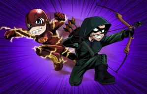 Arrow and Flash by sayped12
