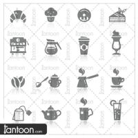 Icons set Cafe by Tantoon-Studio