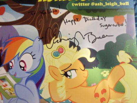 Ashleigh Ball autograph from BABSCon 2017 by XaldinWolfgang