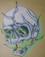 skull and branches by Jonny-Mistfit