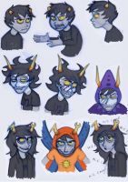 Homestuck Characters: Karkat, Gamzee and Vriska by Expression