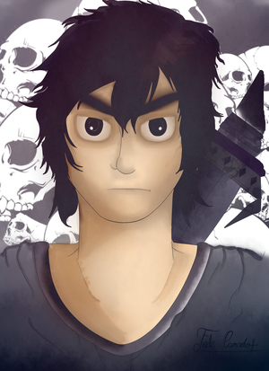 Portrait of Nico di Angelo, the Ghost King.