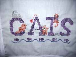 Cats Dresser Scarf Detail (Mom Made) by frizzy192