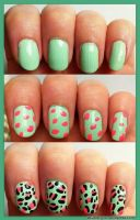Spring Leopard Nails :) by GlitterGirlC