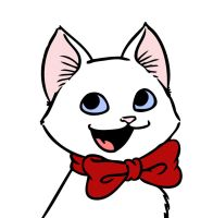 Bow Tie Kitten LOLs At You by RobtheDoodler