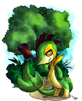 Snivy by Neowth