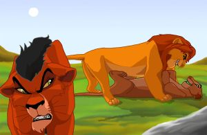 Mufasa and Sarabi in love by MareMoewe