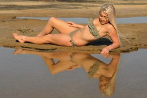 Amy - reflection in olive 1 by wildplaces