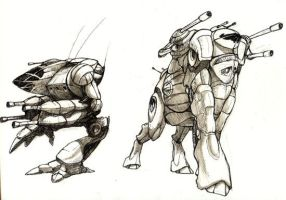 Mech Concepts by caramitten