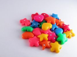 Polymer clay beads by mslusar