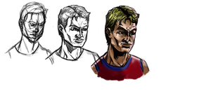 Comic Sketches Male basketball player2 by Gman20999