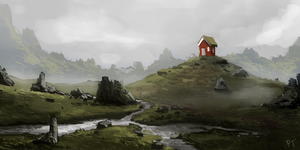 Day 410. Hills again by Cryptid-Creations