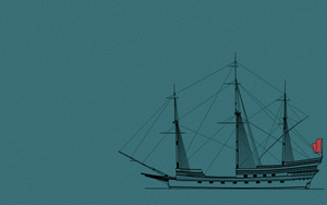Spanish Galleon 2 wallpaper 1440x900 by Pasteljam