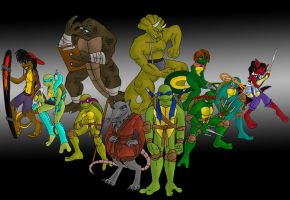 TMNT - group pic by rougewindfield