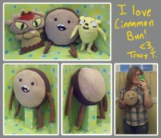 Adventure Time Cinnamon Bun Plush by SowCrazy