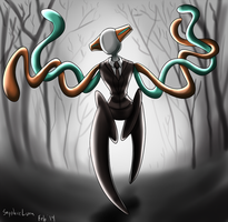 Commission - Slenderman Deoxys by sapphireluna
