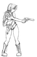-sketch- Revy by northdrow