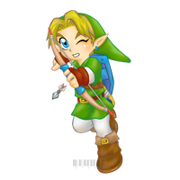 Chibi link with bow and arrow by mandymandii