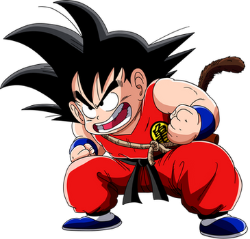Dragon Ball - kid Goku 3 - Lineartcolor by Krizeii