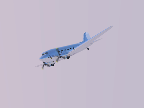 C-47 Dakota with blended propellers by Rooivalk1