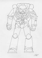 Blood Raven Outline by Wolf-Guard