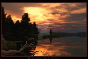Highland Sunset by 00AngelicDevil00