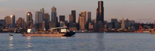 Skyline of Seattle at Day by kdiff3