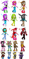 Sonic Adoptables 1 by Lunar-Adoptables8