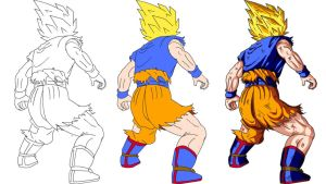 Goku Evolucao by alleckx