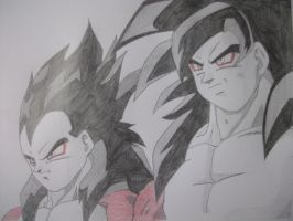 super saiyan 4 goku and vegeta by vegeta-goku