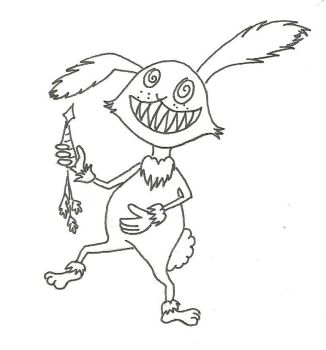 3 together with  in addition Tristan Taak together with Scarybunny furthermore Halloween Coloring Pages. on scary easter bunny happy
