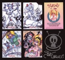 """""""MANDY"""" sketch cards 2009 by PatCarlucci"""