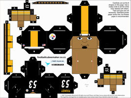 Maurkice Pouncey Steelers Cubee by etchings13