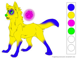 Glow Wolf Adopt OPEN by DragonCartoons