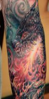 Firey Dragon Tattoo (Work In Progress) by seanspoison