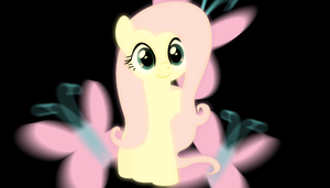 Fluttershy Blur Wallpaper by Bluuper