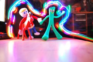 Gumby Pokey and a Lightstream by TheZeeEffect