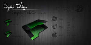 Green Empty Folder by Drawder
