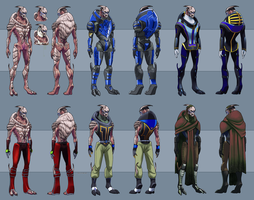 Garrus Vakarian Model Sheet Illustration Style by ghostfire