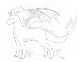 Rapidash the Dragon by firehorse6