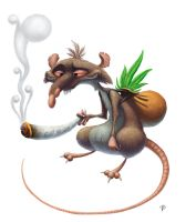 Smoking Rat by nik159