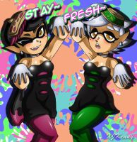 Callie and Marie by XJKenny