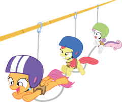 Cutie Mark Crusader Zip-liners by Ingkala