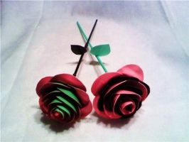 Twoshaded Duct Tape Roses by SilenceWriter