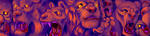 Lion Beast Faces by x-EBee-x