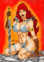 Red Sonja Color by Leonartgondim by winchester01